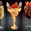 Os carros-chefe do Dr. Freeze são as taças, que misturam sorvete com diversos doces e confeitos. Saem a partir de R$ 15. (foto: divulgação)