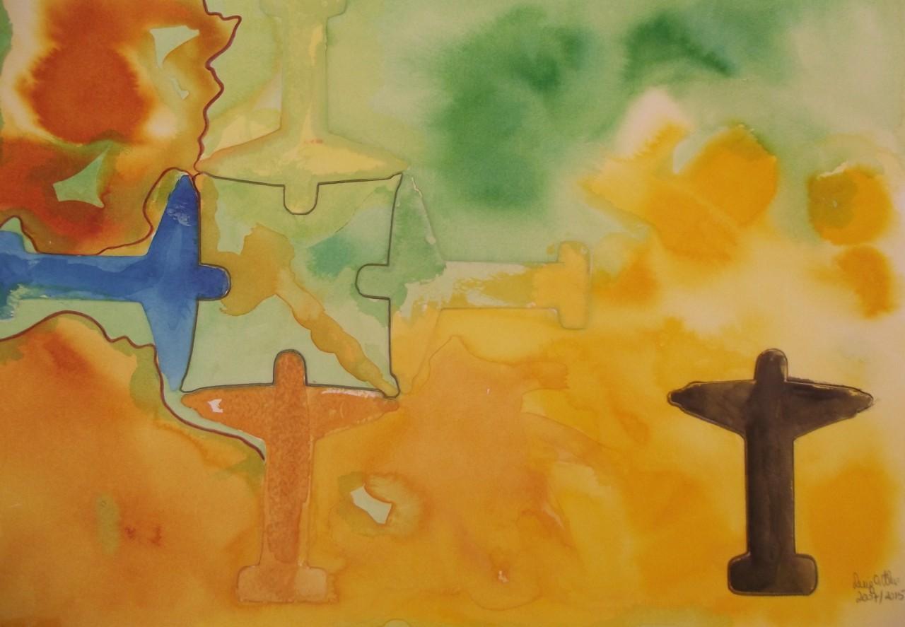 Obra: Mandalas Celestiais num RJ pertubado e violento II, MSP, 31 x 45,5 cm - Fundação Cultural de Curitiba