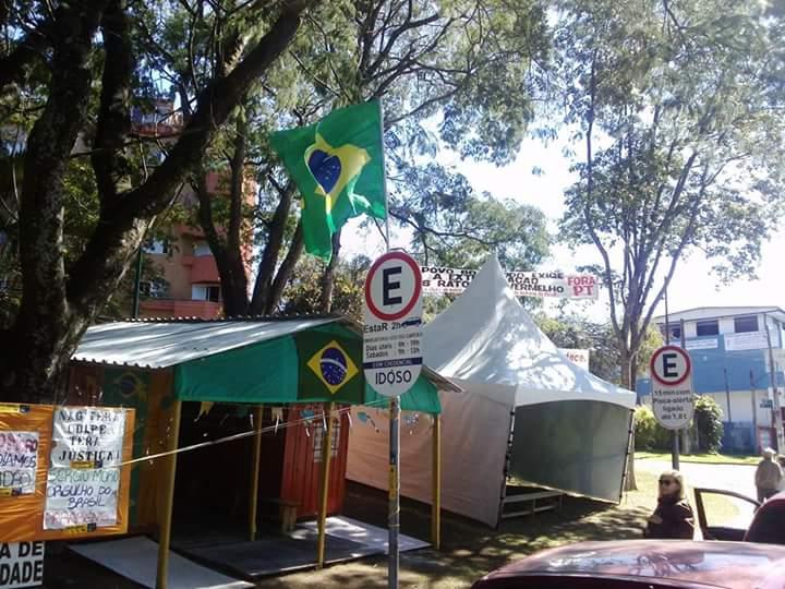 (Foto: Reprodução/ Facebook Acampamento Lava Jato)